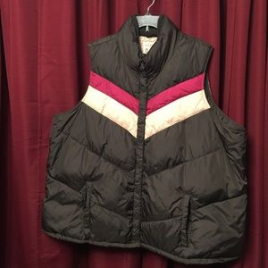 Old Navy - Puffer Vest-Brown-Pink, 4XLarge